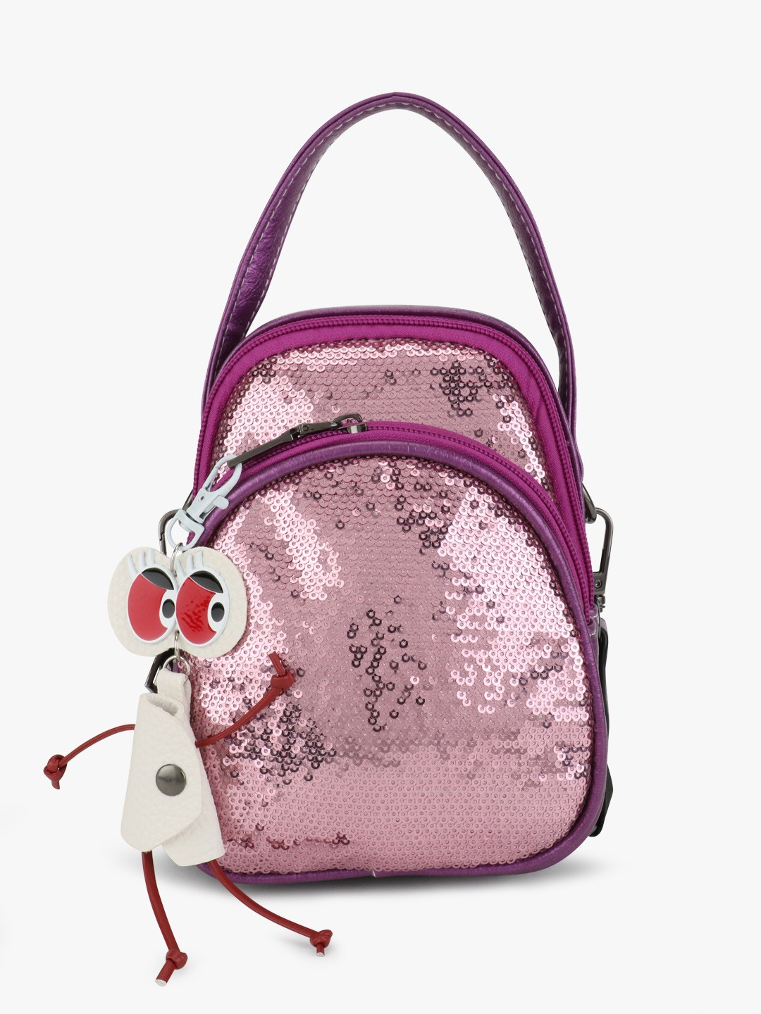Origami Lily Pink Sequinned Crossbody Bag 1