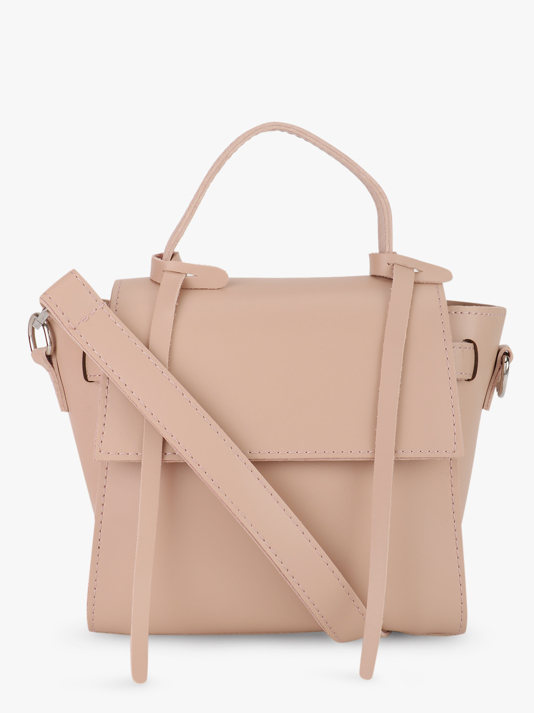 Origami Lily Blush pink Structured Sling Bag 1