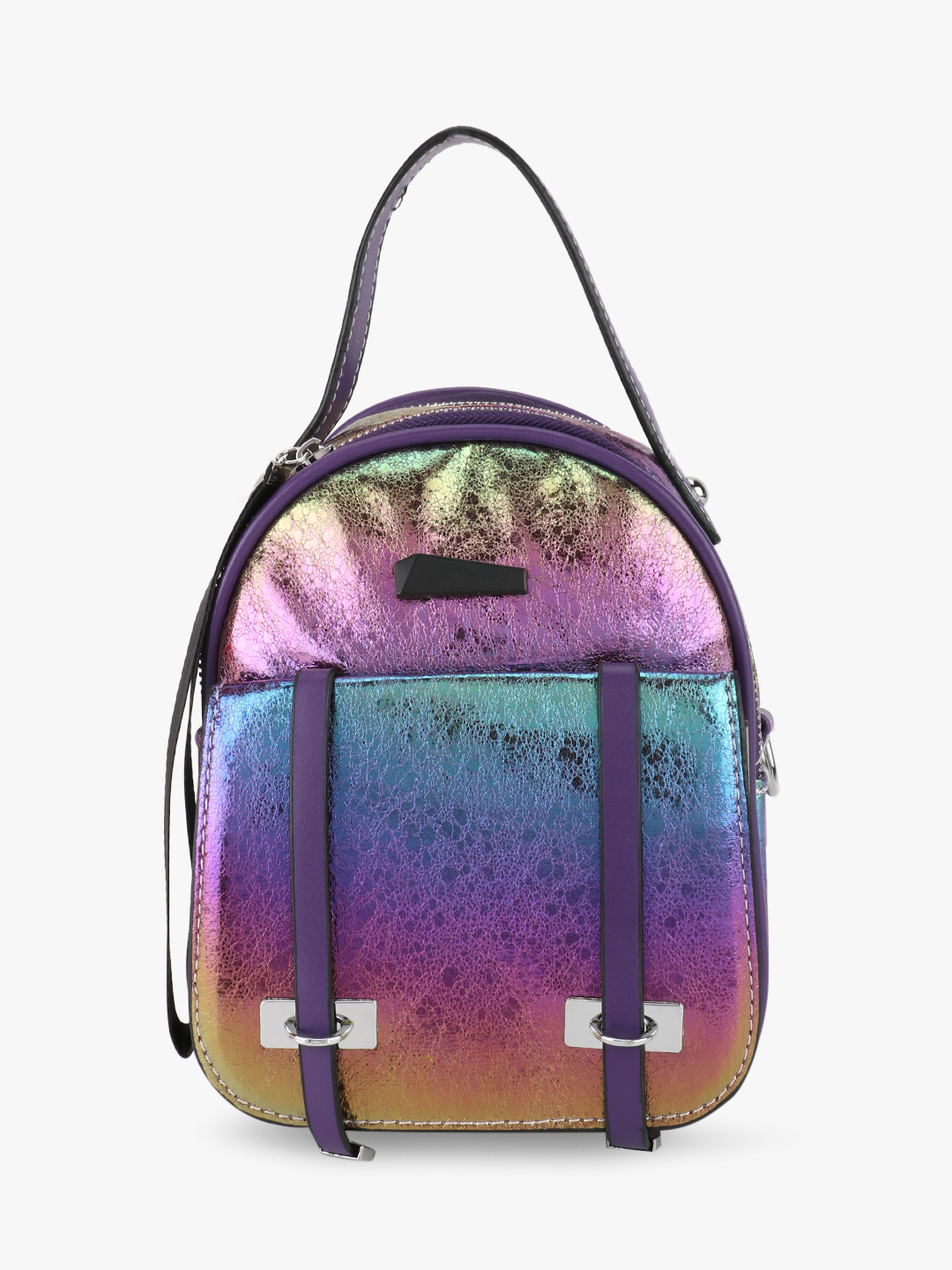 Origami Lily Multi Holographic Holographic Mini Backpack 1