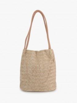 Origami Lily Natural Wicker Tote Bag