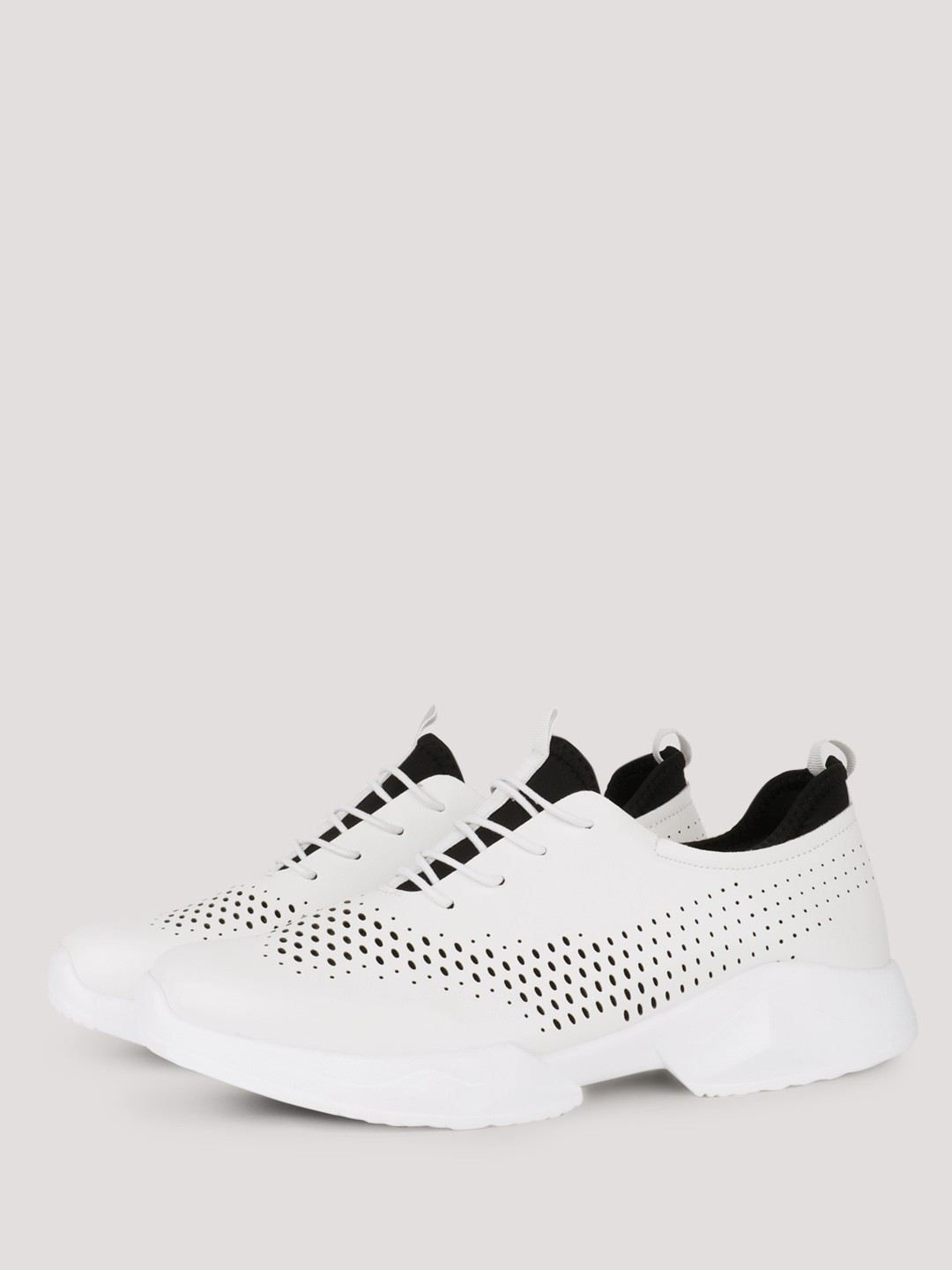 KOOVS White Running Perforated Sneakers 1