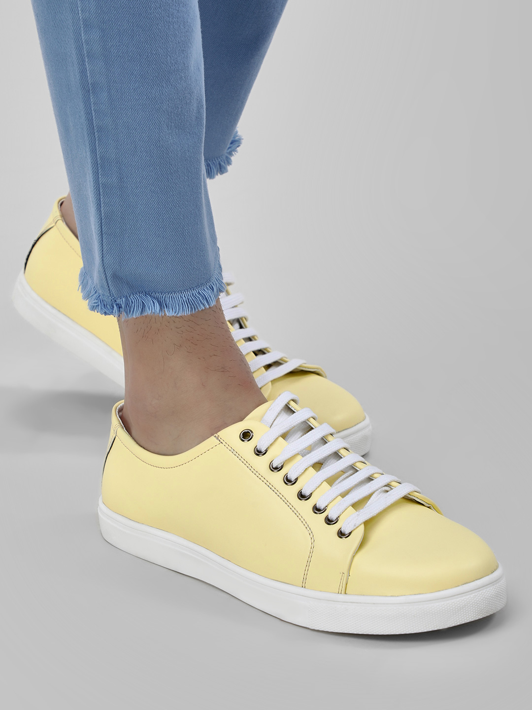 KOOVS Yellow Old School Sneakers 1