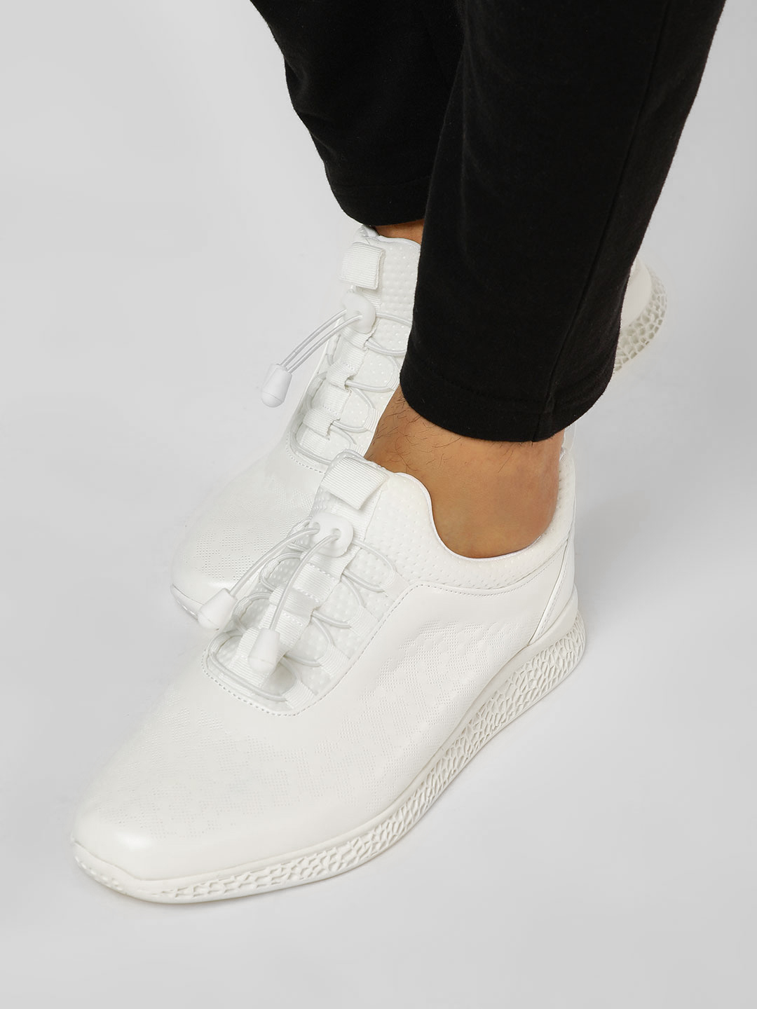 Kindred White Perforated Icy Sneakers 1