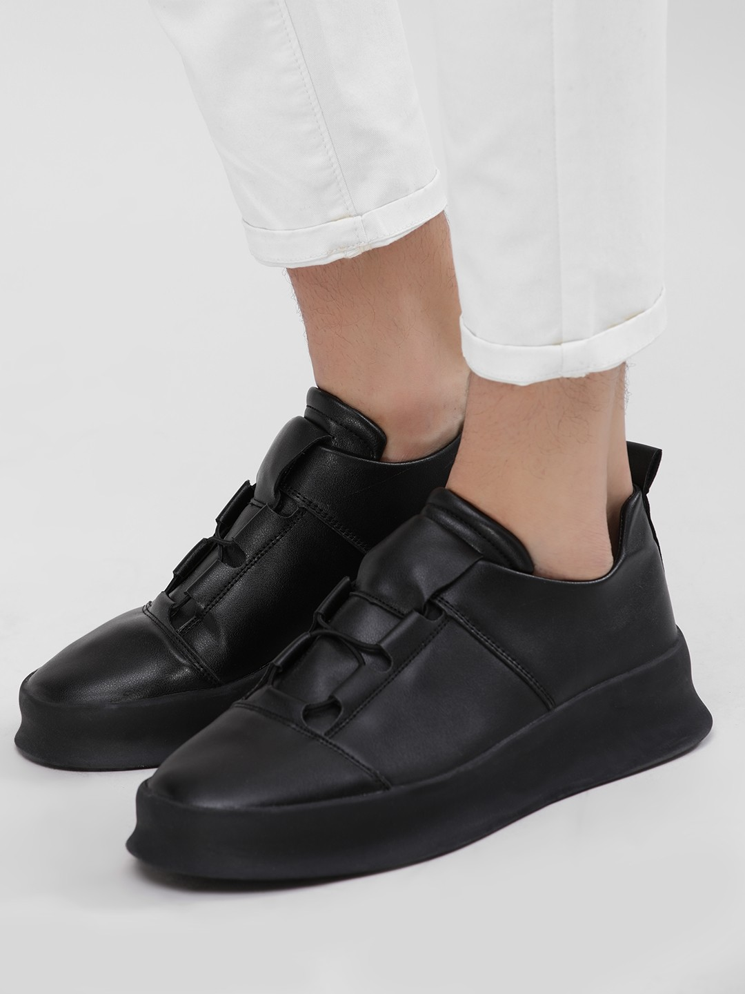 Kindred Black Broad Sole Slip-On Sneakers 1