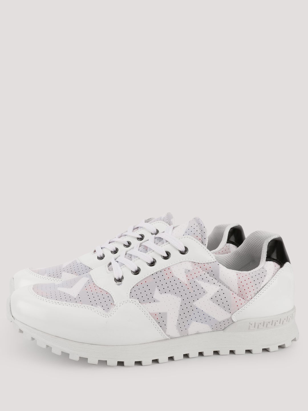Kindred White Mesh Panel Cleated Sole Trainers 1