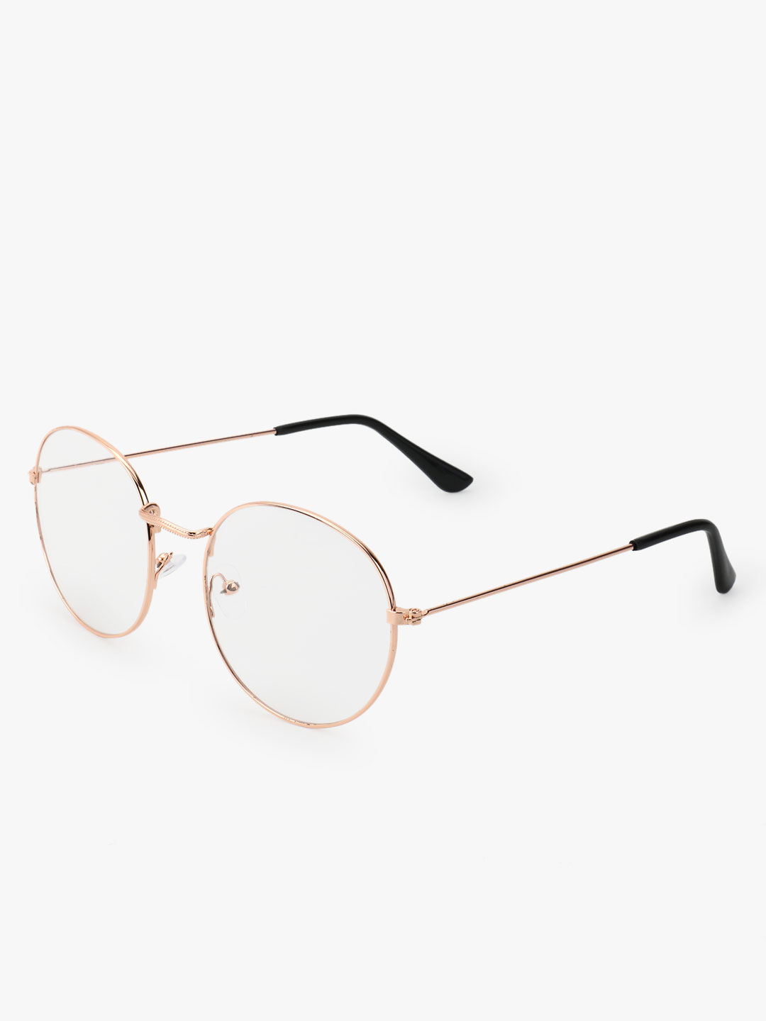 Pataaka Gold Clear Lens Round Sunglasses 1
