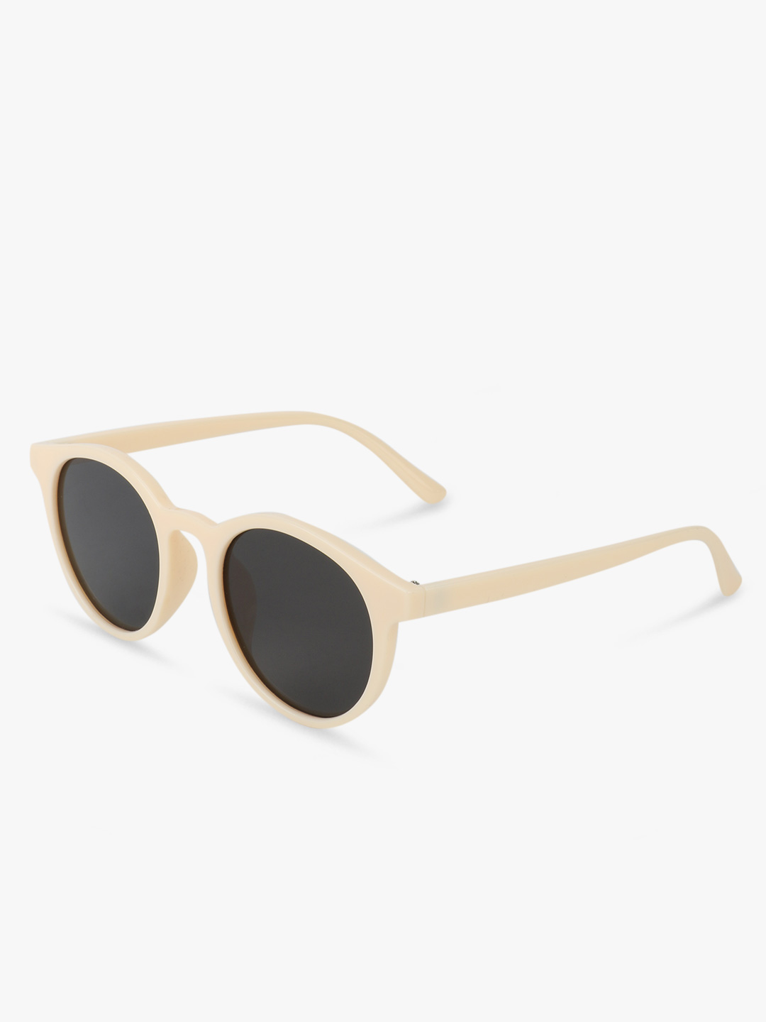 Pataaka White Round Sunglasses 1