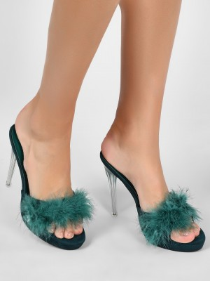 INTOTO Furry Heels With Perspe...