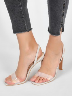 Intoto Front Perspex Strap Slingbacks