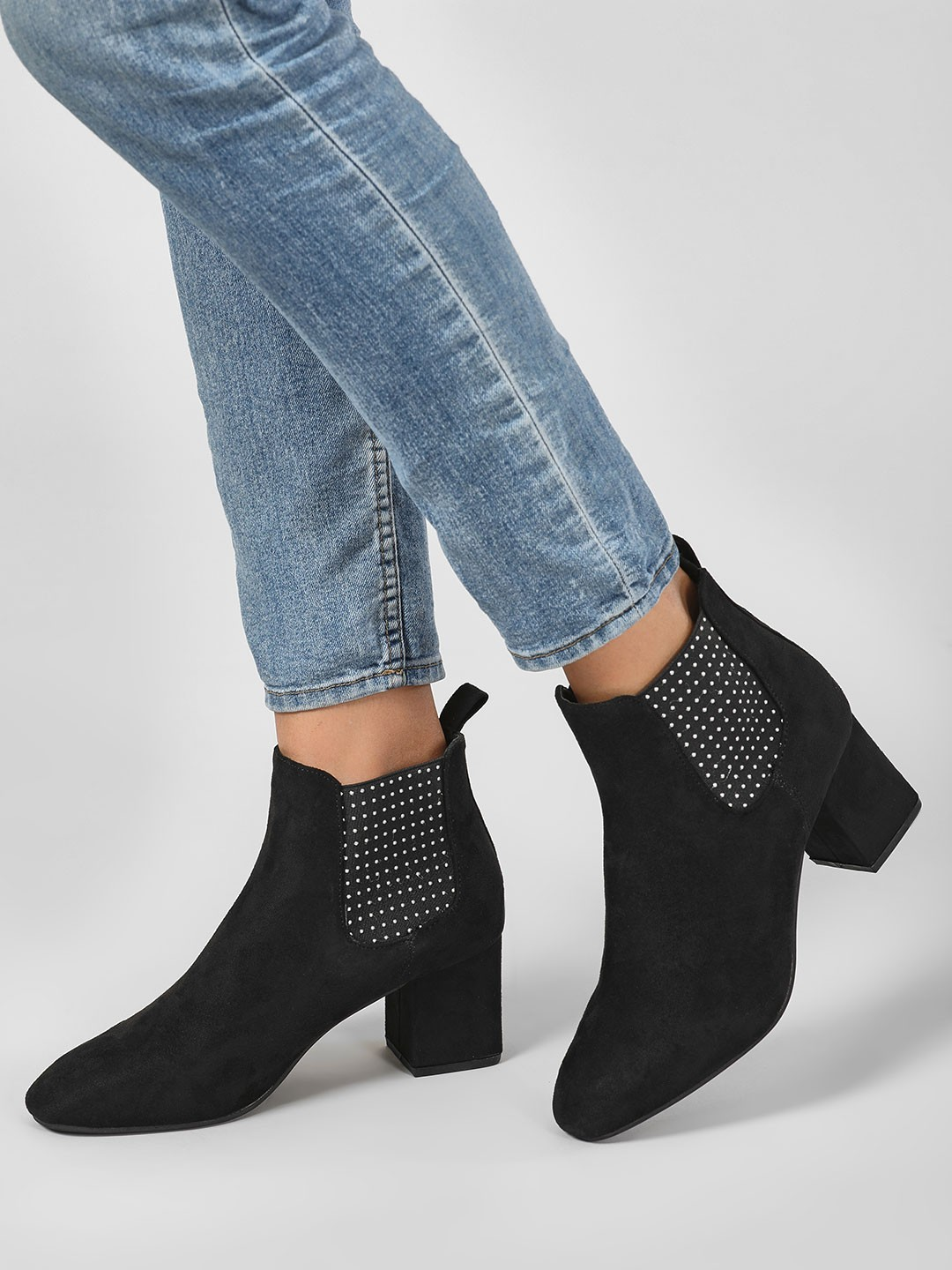Intoto Black Studded Elastic Chelsea Boots 1