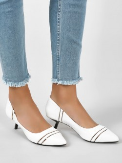 Intoto Angular Kitten Heel Pumps