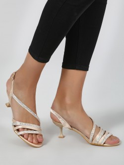 Intoto Holographic Multi-Strap Kitten Heels