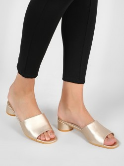 Intoto Mules With Short Cylindrical Heels
