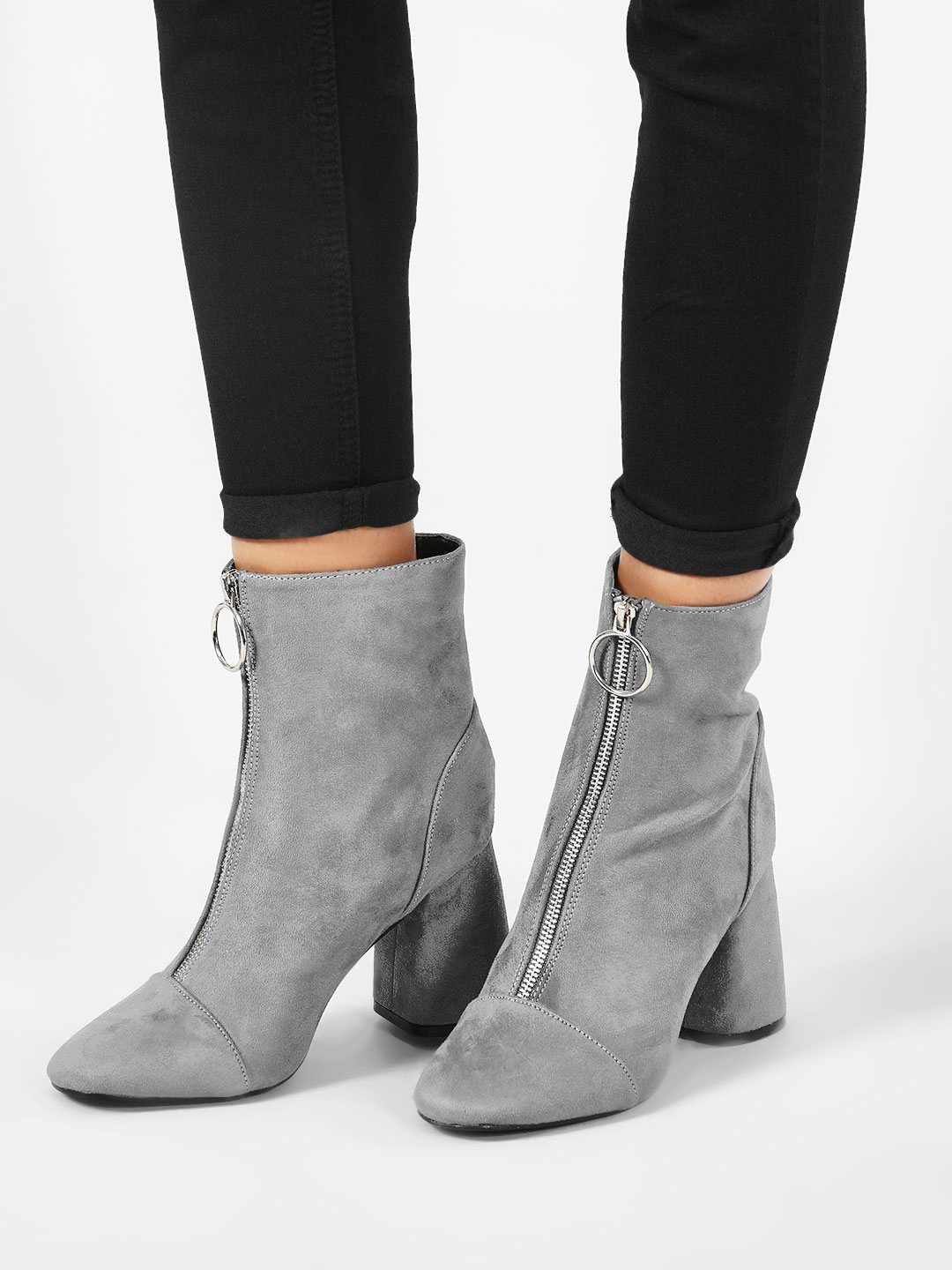 Intoto Zip-Up Flared Heel Boot...