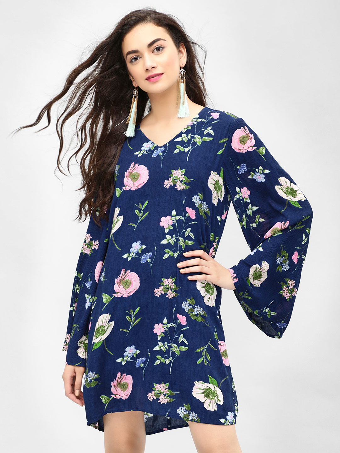 Femella Print Floral Printed Shift Dress 1