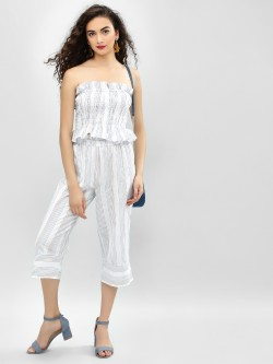 MIWAY Paper Bag Waist Striped Culottes