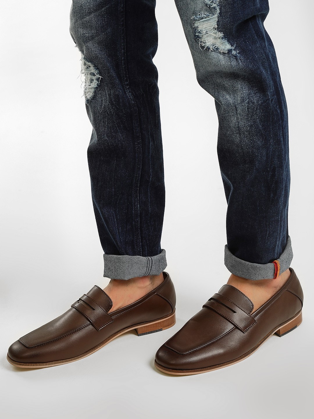 KOOVS Brown Town Loafers 1