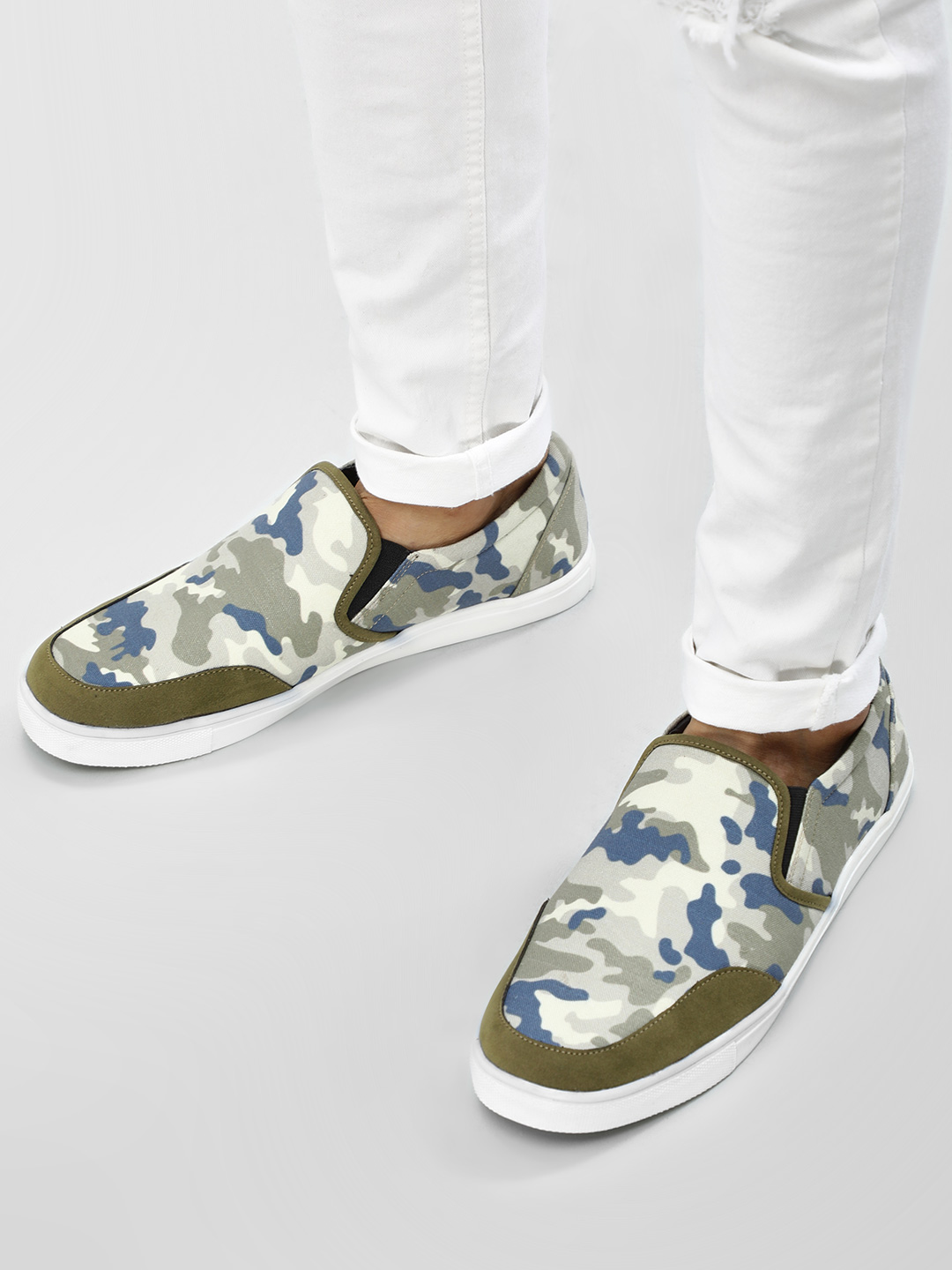 KOOVS Multi Elasticated Cup Sole Slip Ons 1