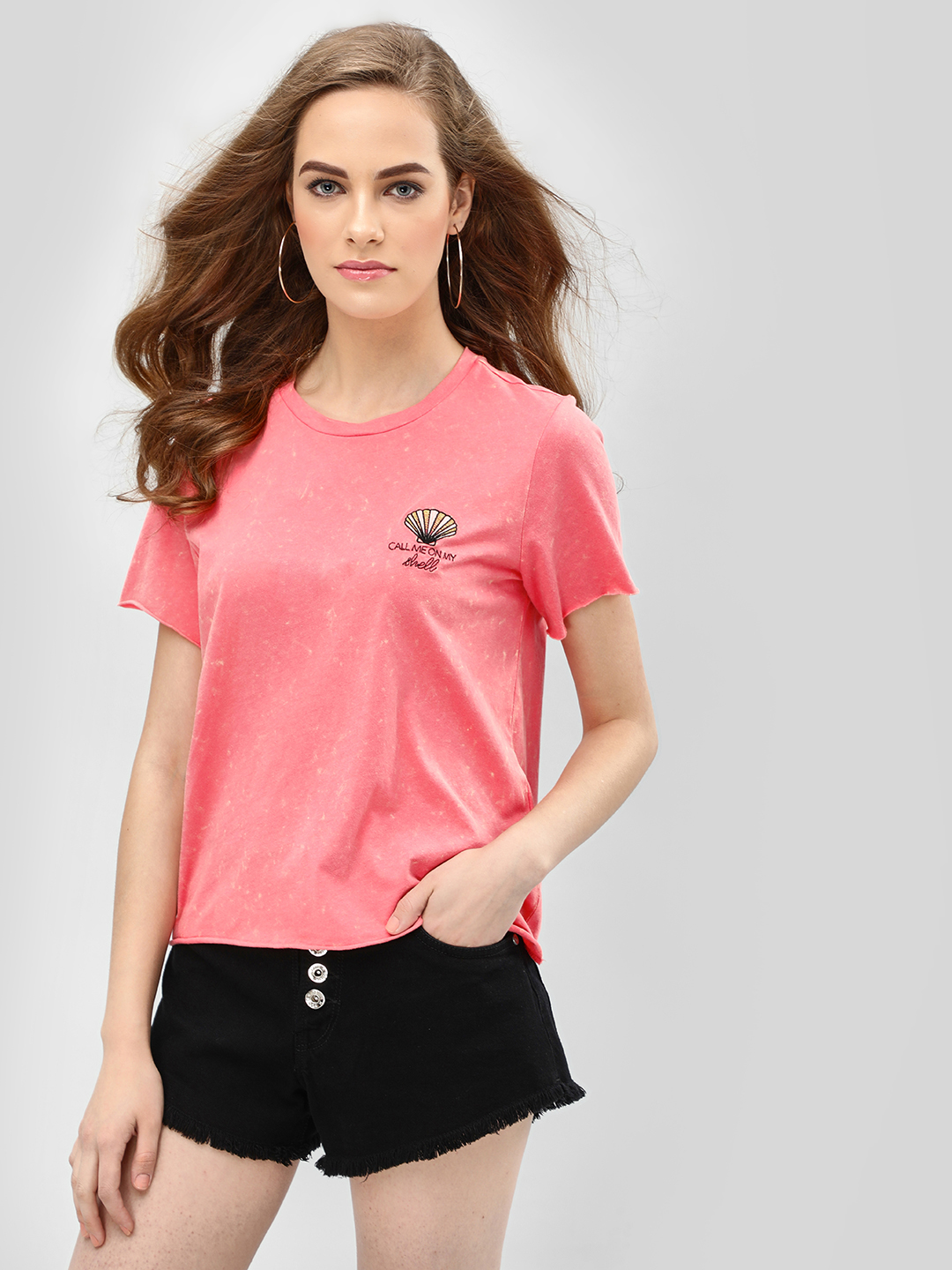 Only Pink Shell Short Sleeve T-Shirt 1