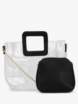 Origami Lily Clear Tote Bag