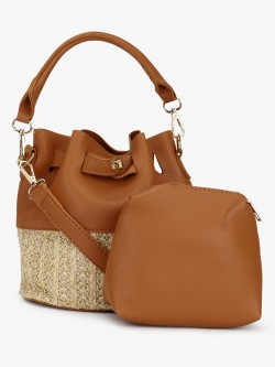 Origami Lily Bucket Bag With Pouch