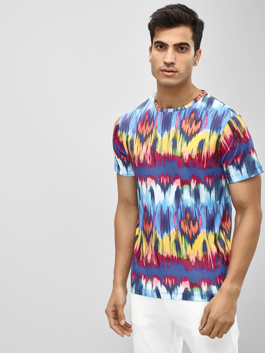 KOOVS Multi All Over Ikat T-Shirt 1