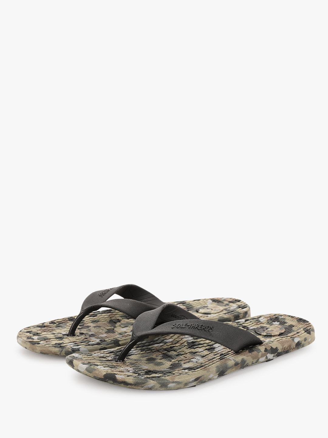Sole Threads Multi Flip Flops With Textured Footbed 1