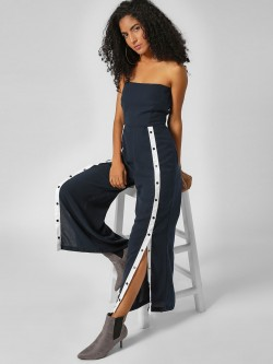 Noble Faith Front Popper Detail Jumpsuit