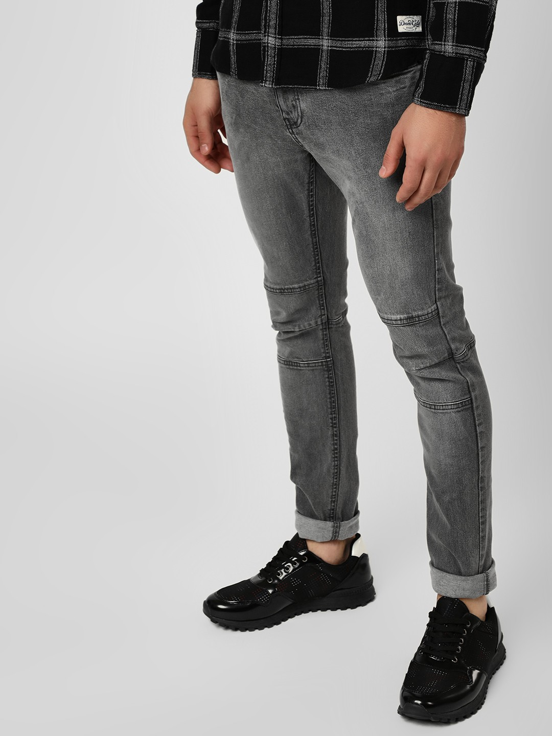 Blue Saint Grey Light Washed Skinny Fit Jeans 1