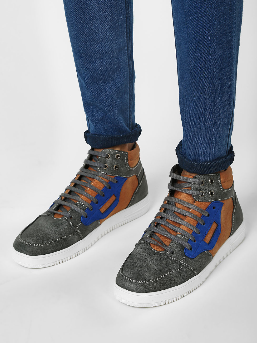 Griffin Multi Quilted Hi-Top Sneakers 1
