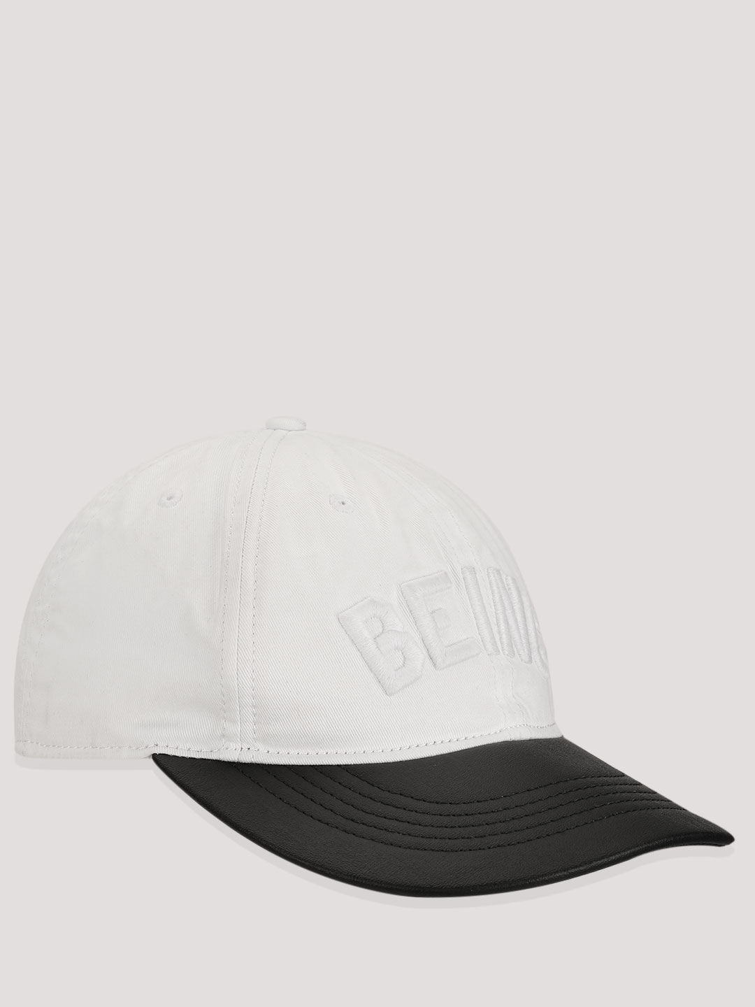 Being Human White Embroidered Colour Block Baseball Cap 1