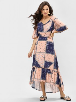 KOOVS Paisley Print Maxi Dress...