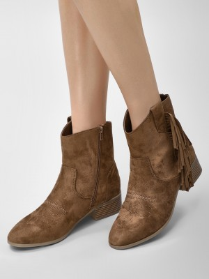 NEW LOOK Western Fringed Ankle...