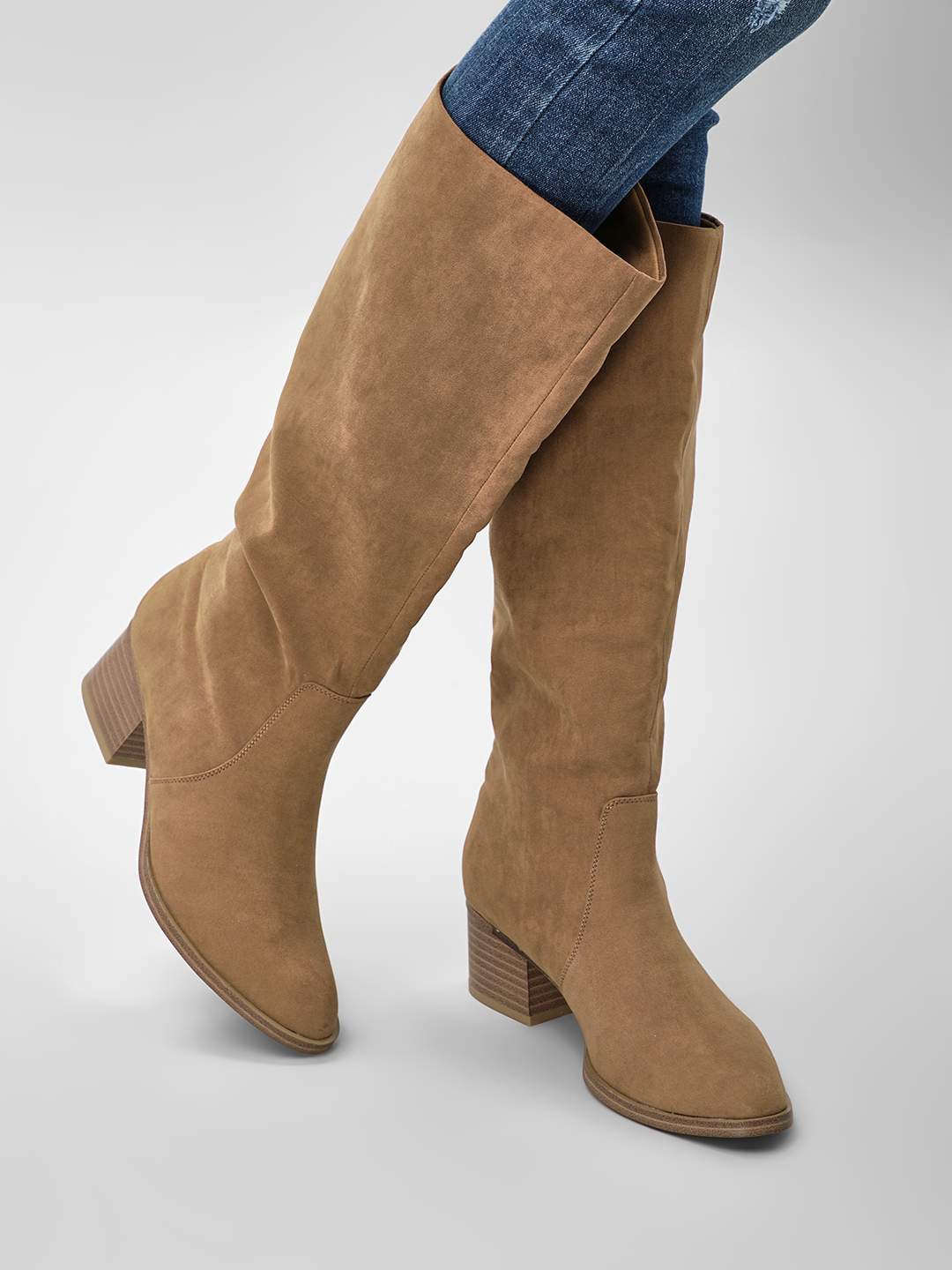 New Look Suede Finish Heeled B...