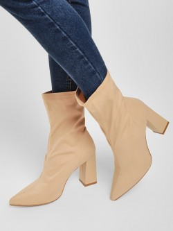 Truffle Collection Sock Style Block Heeled Boots