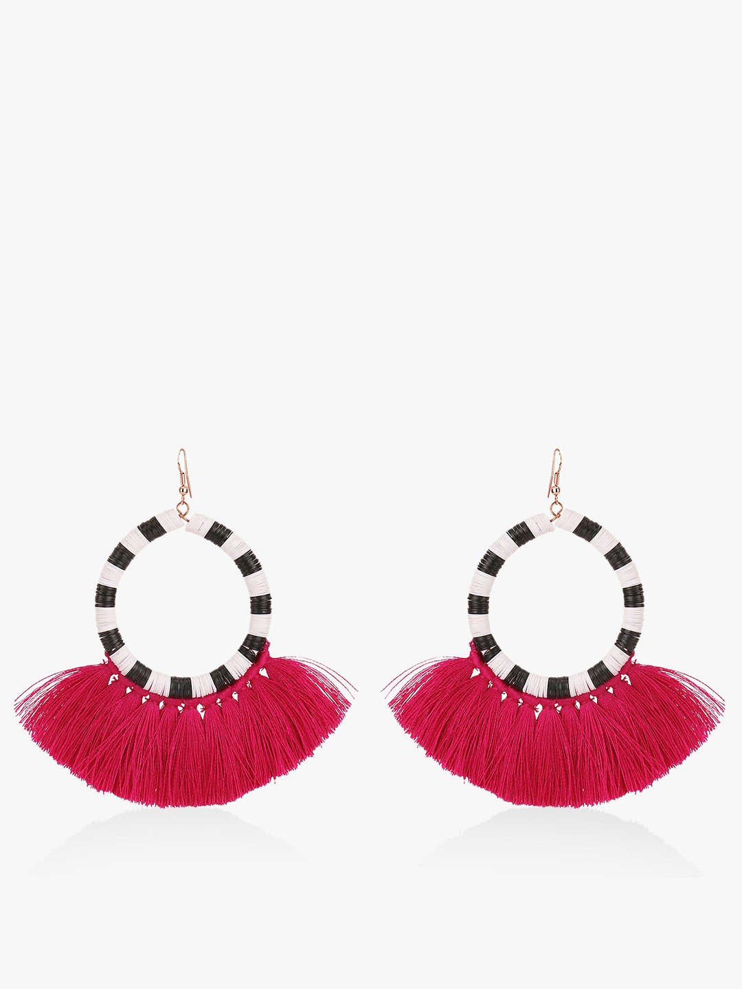 Blueberry Multi Concentric Tassel Drop Earrings 1