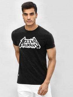 Being Human Logo Print Washed T-Shirt