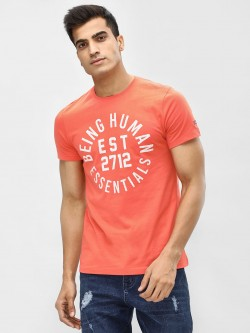Being Human Slogan Print Crew Neck T-Shirt