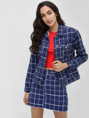 LASULA Windowpane Check Denim ...