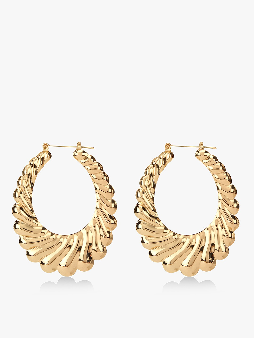 Style Fiesta Gold Textured Hoops 1