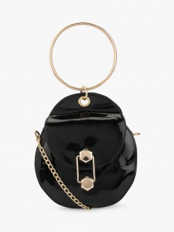 Style Fiesta Ring Handle Circular Sling Bag