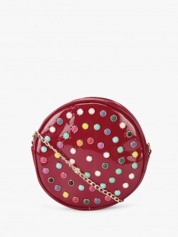 Style Fiesta Studded Round Bag