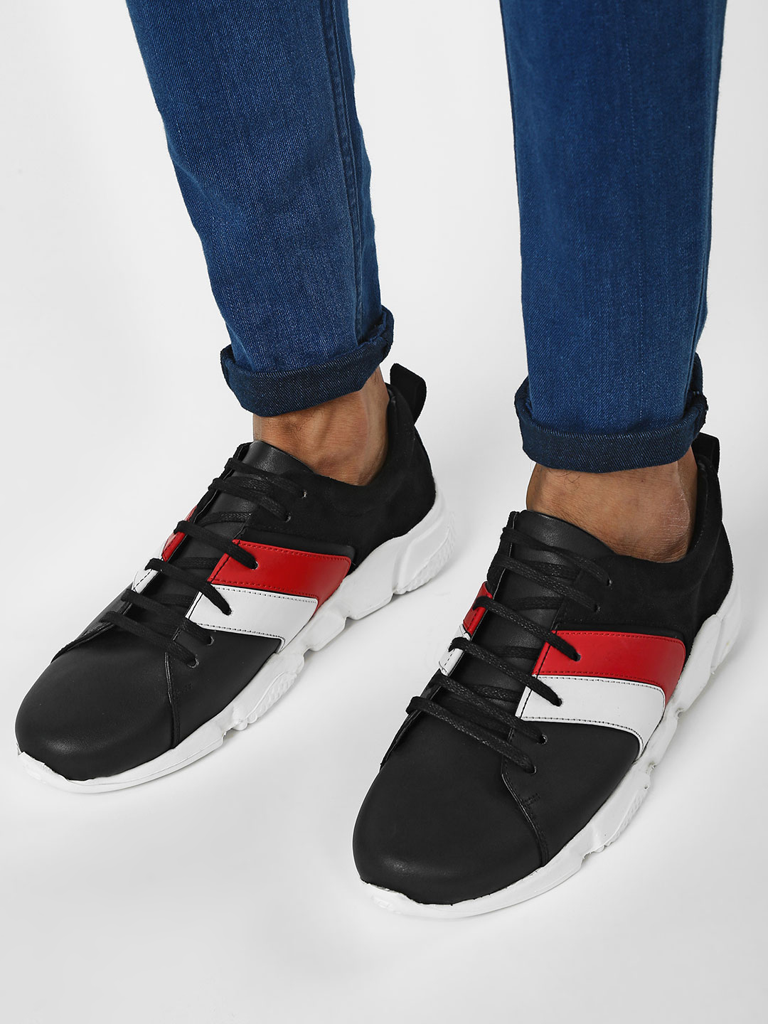 Griffin Multi Colour Block Panelled Sneakers 1