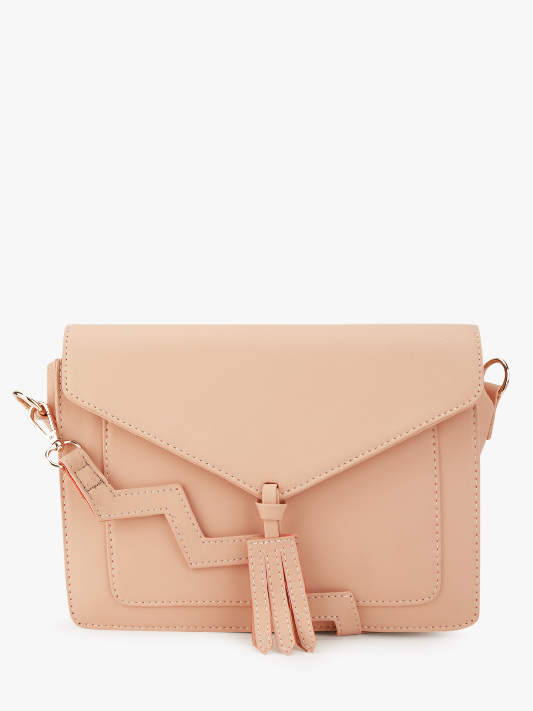 Paris Belle Nude Zig-Zag Strap Sling Bag 1