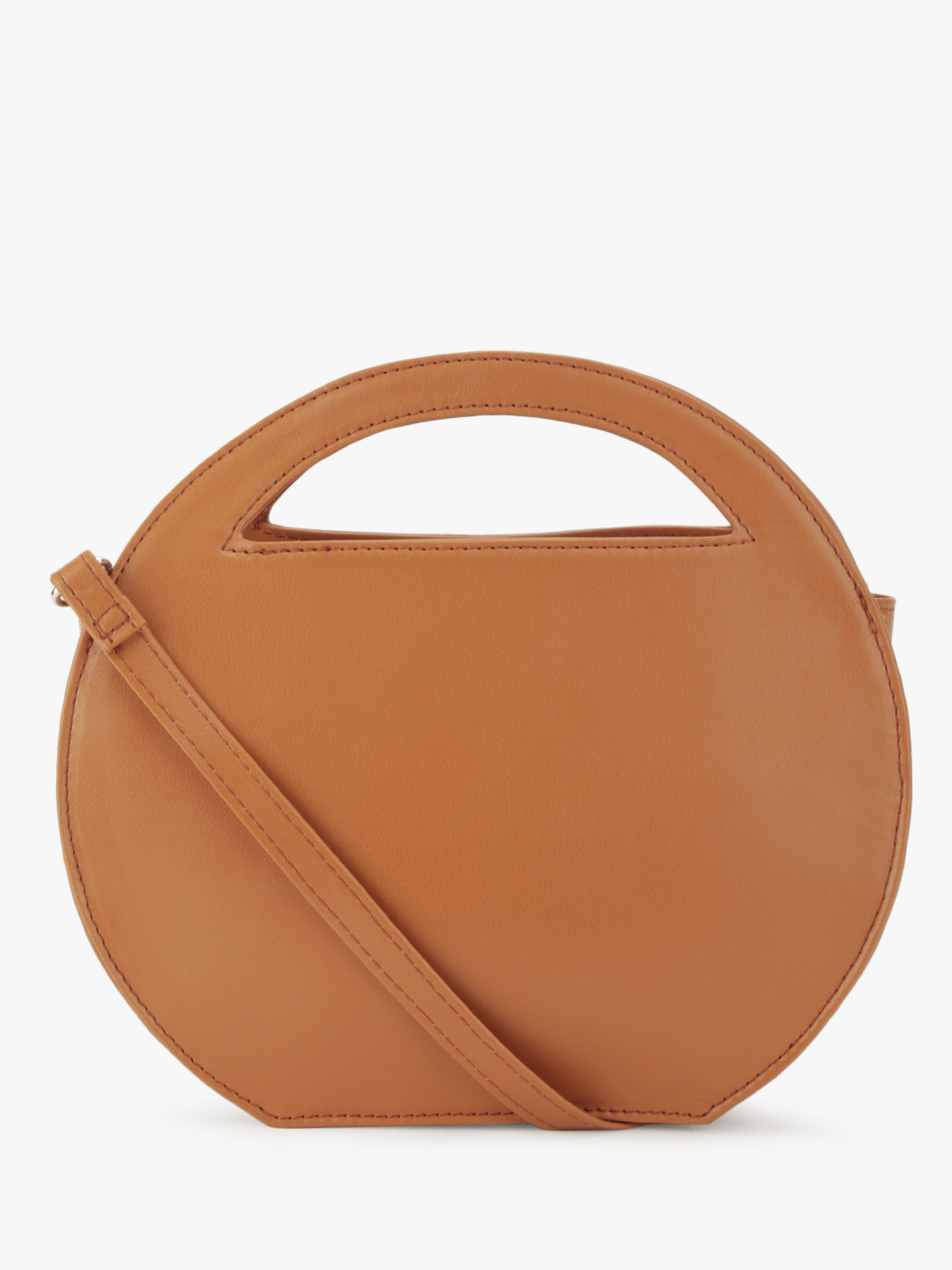 Paris Belle Tan Structured Sling Bag 1