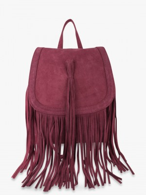 PARIS BELLE Suede Finish Fring...