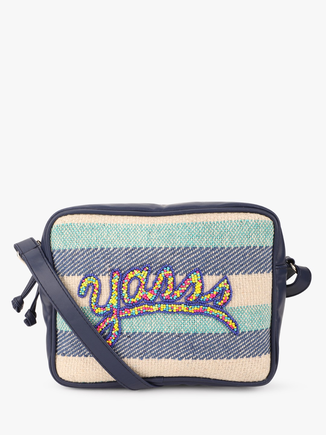 The Love Hook Blue YAAS Beaded Sling Bag 1