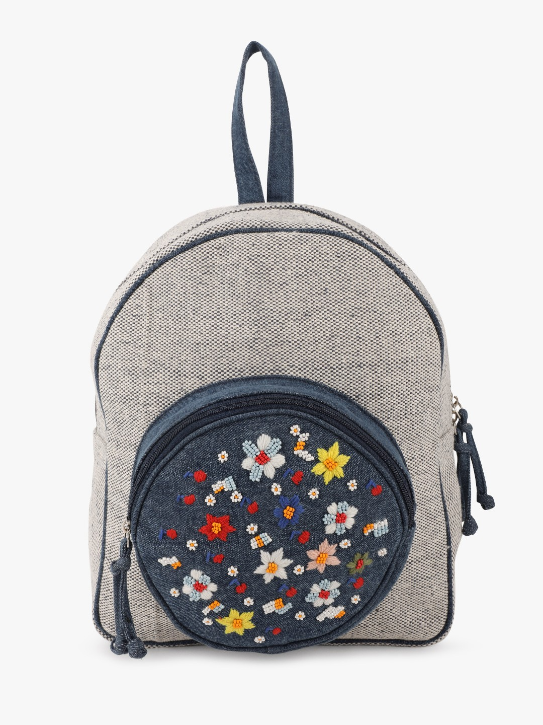 The Love Hook Blue Floral Embroidered Backpack 1