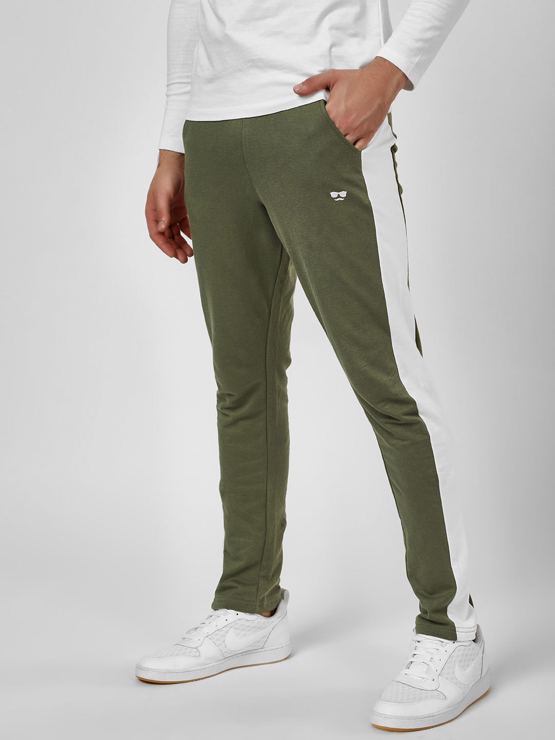 Garcon Green Cut & Sew Side Panel Joggers 1