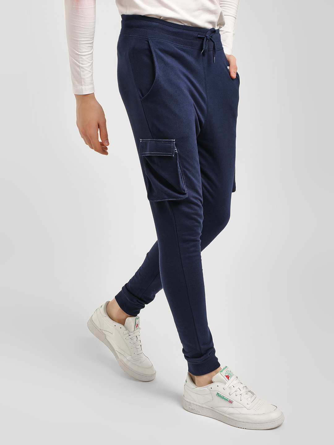 Garcon Navy Flap Pocket Joggers 1